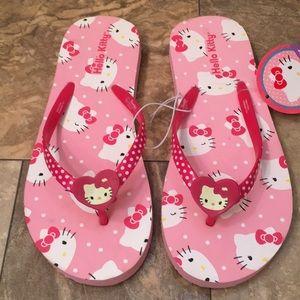 New Hello Kitty Pink Kitsch Flip Flop Sandals Boho